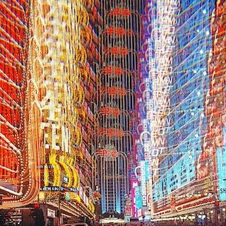 Mitchell Funk, Casino Lights Las Vegas, Multiple Exposure (1974)