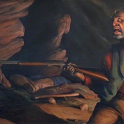 Robert Riggs, Prospector firing Rifle  ( Happiness is a Warm Gun )  (ca. 1940)