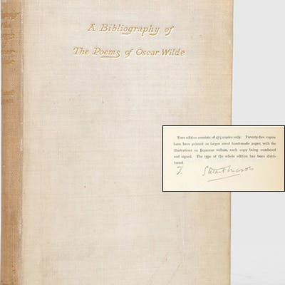 A Bibliography Of The Poems Of Oscar Wilde Barnebys