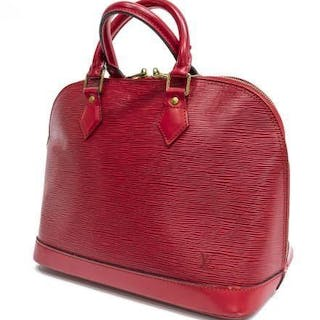 b3effa9b9585 LOUIS VUITTON  ALMA PM  RED EPI LEATHER HANDBAG – Current sales –  Barnebys.com