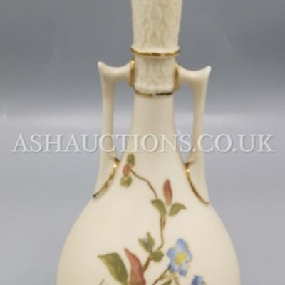 ROYAL WORCESTER BLUSH IVORY (Hand Painted) VASE (Shape No 96...