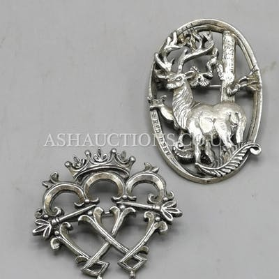 MIRICLE SILVER PLATED BROOCHES