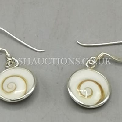 PRESENTED AS A PAIR OF SILVER (925) EARRINGS