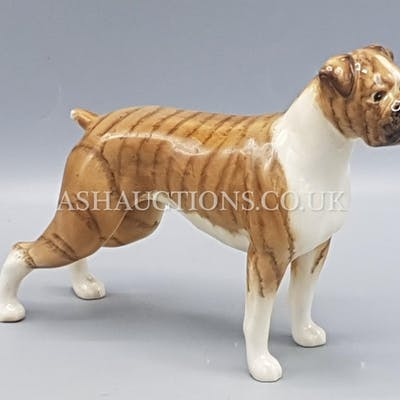 """BESWICK Large 14cm MODEL OF A BOXER DOG """"CH BLUE MOUNTAIN GR..."""