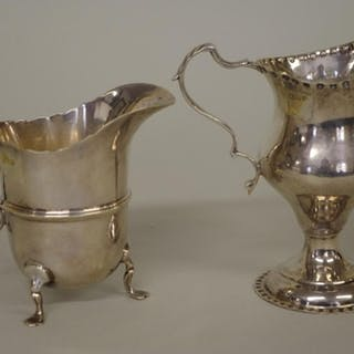 A silver cream jug, by George Nathan & Ridley Hayes, Che...