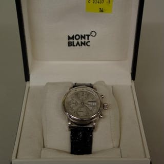 A Mont Blanc Meisterstuck 4810-501 stainless steel chronogra...