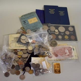Coins: a quantity of British coins and bank notes; together ...