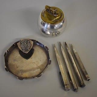A silver ashtray, by J R Gaunt & Sons, Birming...