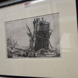 James McNeill Whistler, 'The Golden Hind', signed and titled...