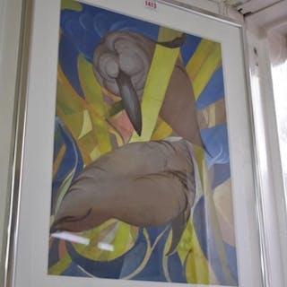 Modern British School, untitled abstract, gouache, 48 x 33.5...