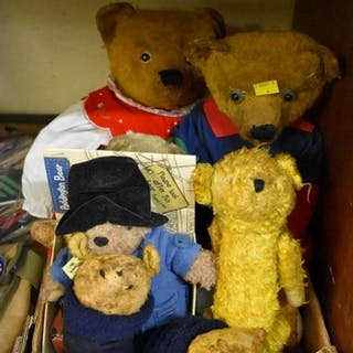 A collection of teddies and soft toys. ...