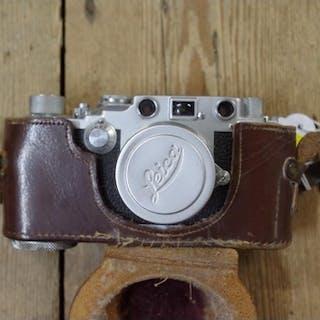 A Leica IIIc camera, No 368821, circa 1941, with Leitz Summi...