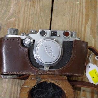 A Leica IIIc camera, No 426795, circa 1946-7, with Leitz Elm...