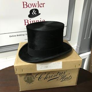 466a83d8b732d Christys Hats London Imperial top hat with original box. – Current sales –  Barnebys.com
