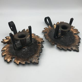 A Pair of 20th century candle wall sconces