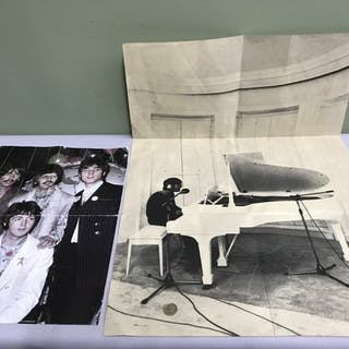 Two vintage Beatles posters, One of John Lennon is by I.D.N....