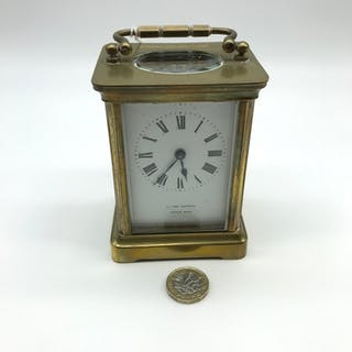 A French made brass carriage clock, In a running condition.