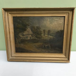 Original oil painting by W.H.Haines (1812-1884) Oil painting...