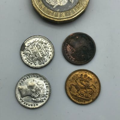 A Lot of 4 antique coin tokens
