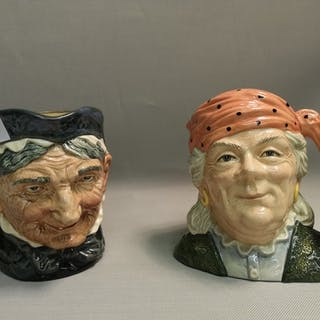A lot of two Royal Doulton Toby jugs to include 'The Fortune...