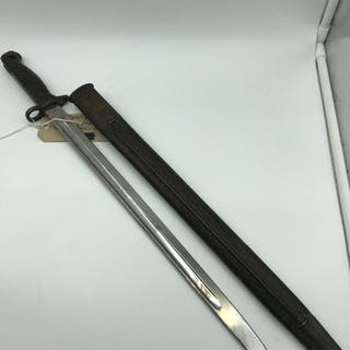 1907 pattern bayonet marked 10 Leicestershire, Made by S. An...