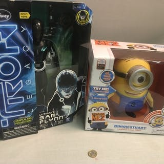 Two Collectors Boxed Toys to included Tron Legacy Sam Flynn ...