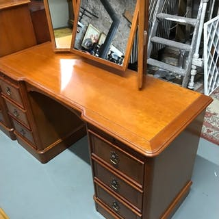 Charles Barr Furniture Knee hole dressing table fitted with ...