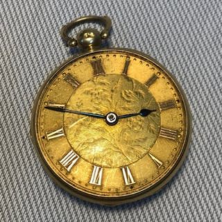 18ct gold gents Fusee pocket watch, Non Runner. No glass fro...