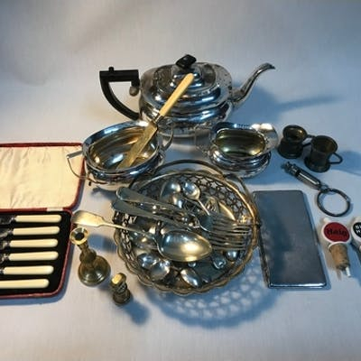 A Selection of Collectables together with Silver plated and ...