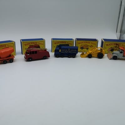 "A collection of 5 ""Matchbox"" Series (A Lesney product) model..."