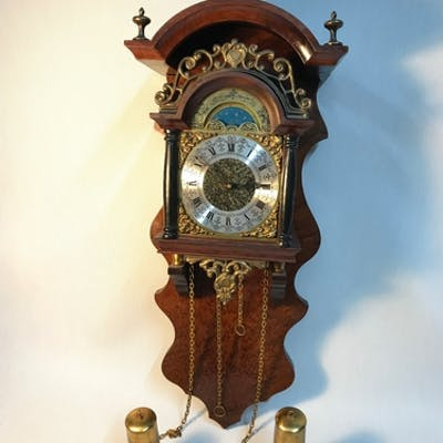 A Reproduction Dutch wall clock produced by United Clock Wor...