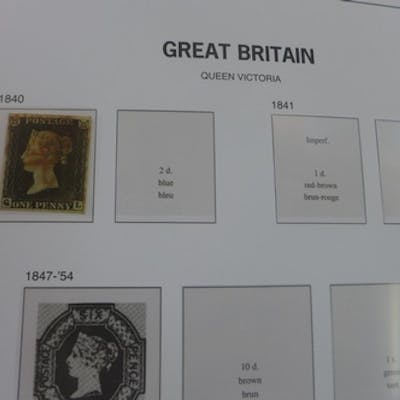 A single album of British stamps to include three Penny Blac...