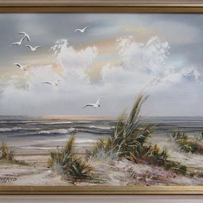 Reba Inverso, 20th century American - Florida beach scene - ...