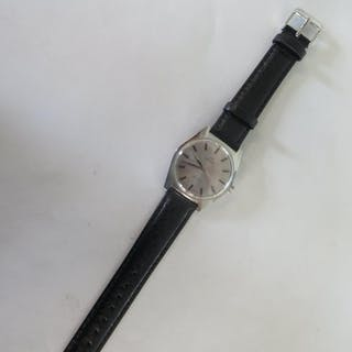 An Omega Geneve manual stainless steel gents wristwatch 36mm...