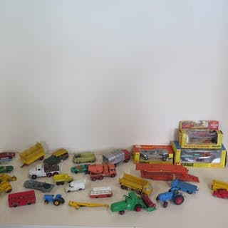 A collection of die cast vehicles to include two boxed Dublo...