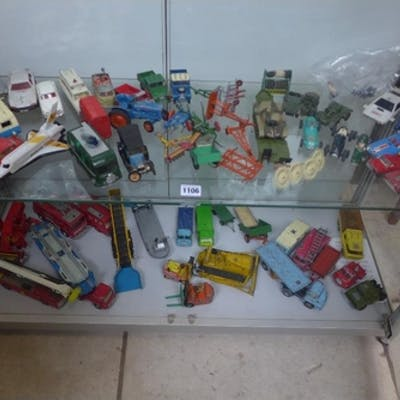 A collection of retro die cast model toy vehicles, including...