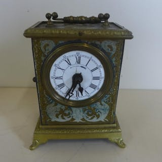 A 19th century French Alarm Carriage clock decorated with my...