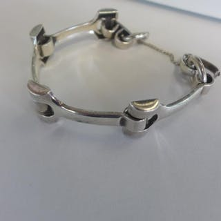 A German silver bracelet by Crosse, approx 1.5 troy oz