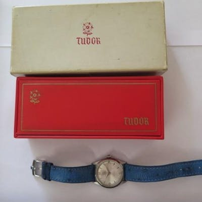 A gents steel case Rolex Tudor Oyster Prince, with rotor sel...