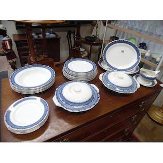 Blue White Dinner Service Current Sales Barnebyscouk