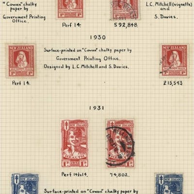 HEALTH STAMP COLLECTION: 1929-79 mint & used collection of s...