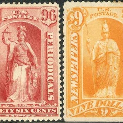 1875-95 & 1895-97 NEWSPAPER & PERIODICAL STAMPS - mint/unuse...