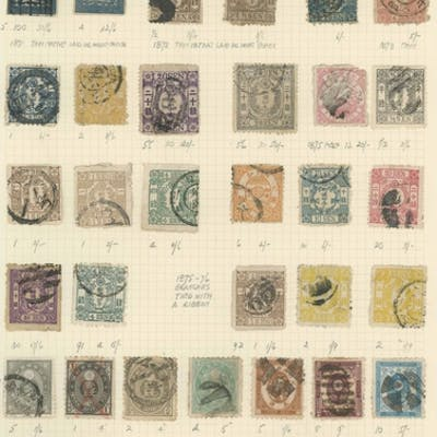 EARLY ISSUES ON OLD ALBUM PAGES: Range of c.1871-1907 used i...