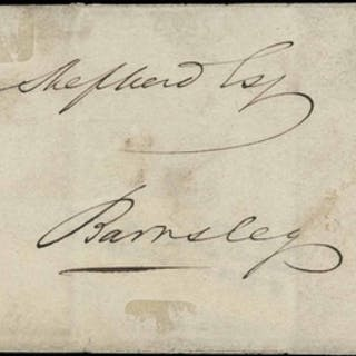 PLATE 2 NG - ON COVER TO BARNSLEY - posted from ROTHERHAM, 1...