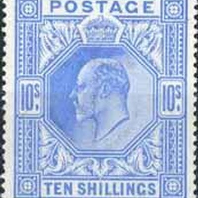1902-10 De La Rue 10/- ultramarine. Very fine unmounted mint...