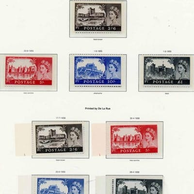 1952-68 The unmounted mint collection of Wilding issues inc ...