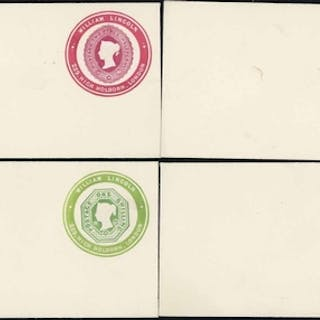 WILLIAM LINCOLN - AN UNUSED GROUP OF EIGHT:1d pink stamp 4, ...