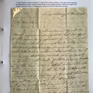 A COLLECTION OF WORLD WAR TIME & MILITARY MAIL. Pre c1914 (e...