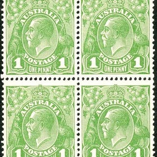 KGV Sideface Collection on annotated pages inc. ½d Cyprus Gr...
