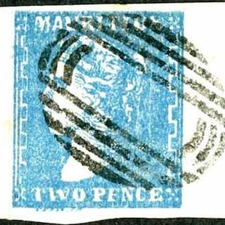 1859 Dardenne litho 2d Blue with large to very large margins...